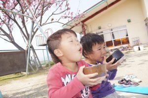 美心幼愛園 | 熊本市西区中島町の認可保育所,園児達の食事